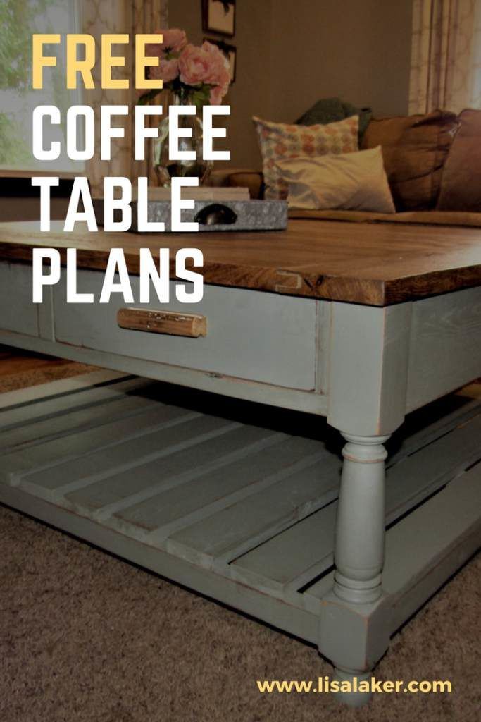 Coffee Table with Drawers - Free Woodworking Plans
