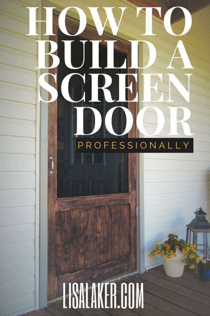 Wood Screen Door Lisa Laker Interior Design